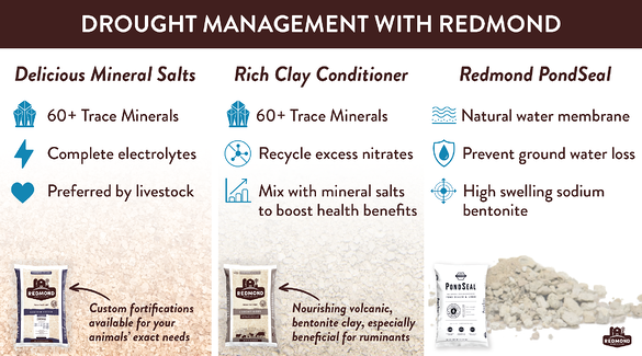 Drought Management with Redmond Minerals Products
