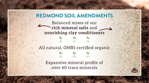 Redmond soil amendments