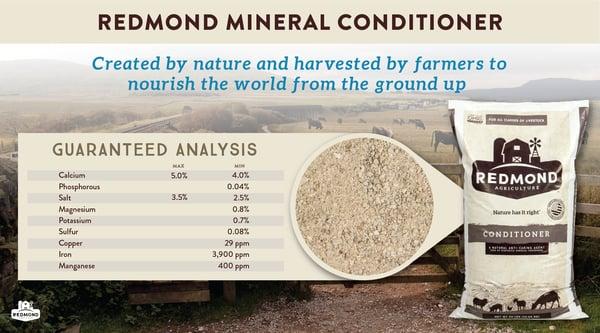 Redmond mineral conditioner nourishing the soil