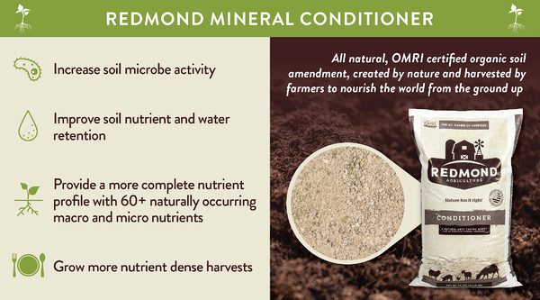 Redmond mineral conditioner for amending soil