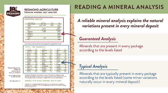 How to read and understand a mineral analysis