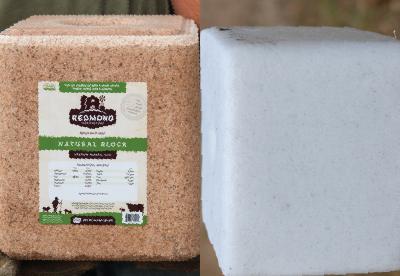 Redmond mineral block and white salt block